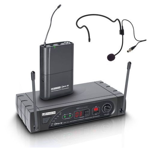 eco 16 bph b 6 bezprzewodowy system mikrofonowy z nadajnikiem bodypack i zestawem nagłownym, 16-kanałowy marki Ld systems