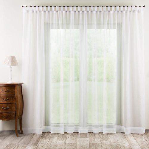 firana woalowa prosta na szelkach, biały, 300 × 260 cm, woale marki Dekoria