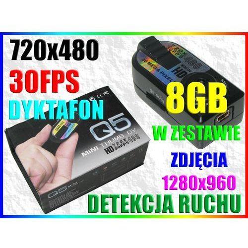 MINI KAMERA SZPIEGOWSKA SD METALOWA OBUDOWA +8GB (kamera monitoringowa)