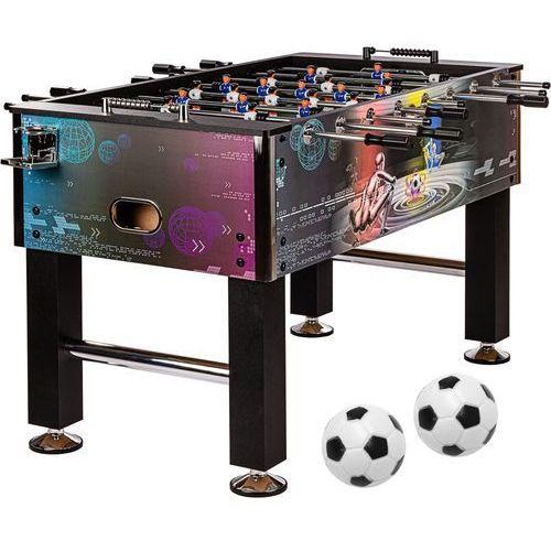 Stół piłkarski piłkarzyki model leeds 60 kg cyber - ozdobna okleina cyber marki Mks