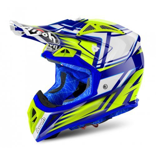 Airoh aviator 2.2 restyle yellow gloss kask off-road