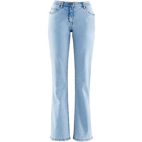 Dżinsy BOOTCUT bonprix jasnoniebieski, jeansy, niebieski