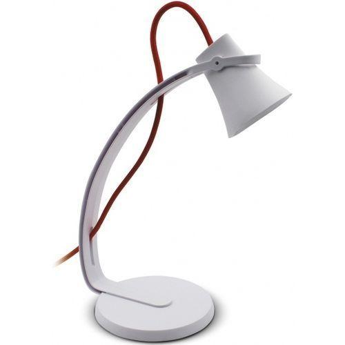 Lampka biurkowa NILSEN Skara z czerwonym sznurem Biały