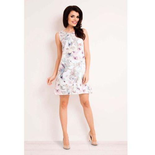 5186f83e56 Sukienka trapezowa mini w jasne kwiaty marki Infinite you 119
