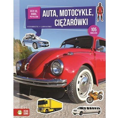 Zielona sowa Uczę się, bawię, przyklejam. auta, motocykle... (9788380739741)