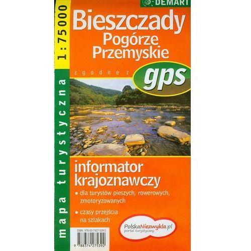 Bieszczady. Pogórze Przemyskie. Mapa turystyczna 1: 75 000, praca zbiorowa