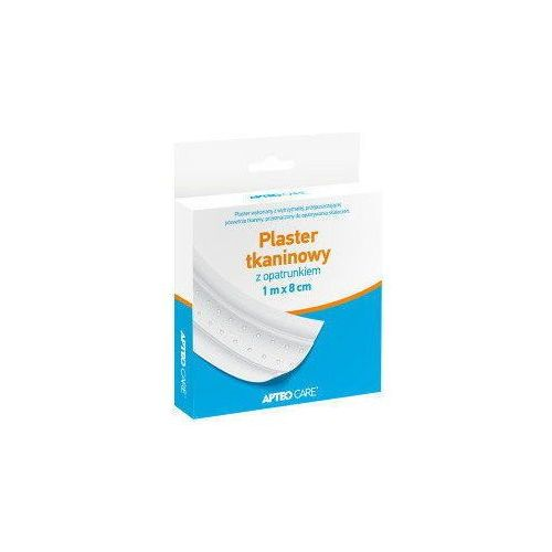 Apteo care plaster tkaninowy z opatrunkiem 1m x 8cm marki Synoptis pharma