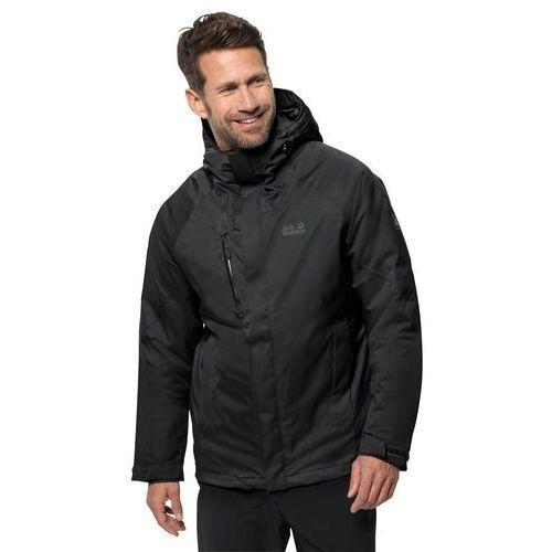 Męska kurtka zimowa troposphere jacket m black - m marki Jack wolfskin