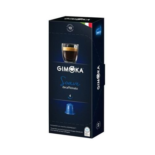 GIMOKA 10szt Soave Decaffeinato Nespresso Włoska bezkofeinowa kawa w kapsułkach