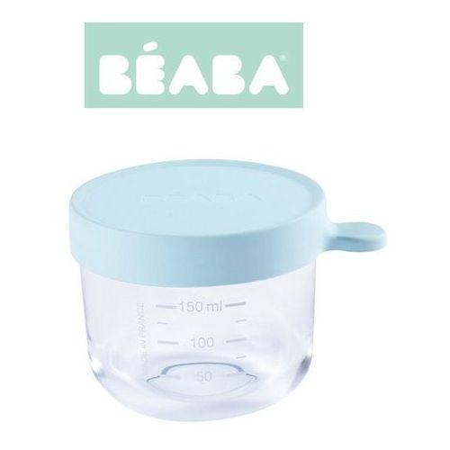 Beaba Pojemnik słoiczek szklany z hermetycznym zamknięciem 150 ml light blue