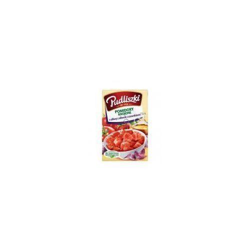 Pomidory krojone z czosnkiem i oliwą z oliwek 400g marki Pudliszki
