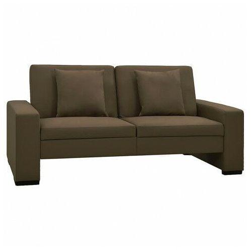 Elior Dwuosobowa brązowa rozkładana sofa z ekoskóry - arroseta 2s