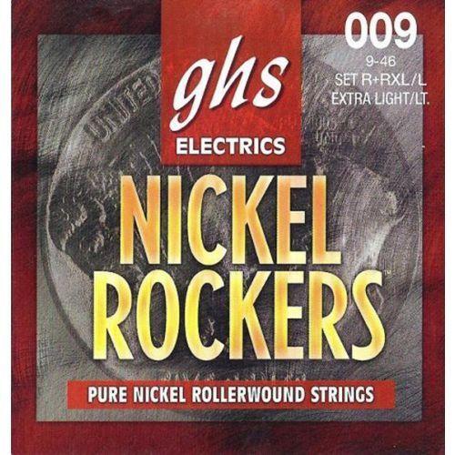 Ghs nickel rockers struny do gitary elektrycznej, extra light-light,.009-.046, rollerwound