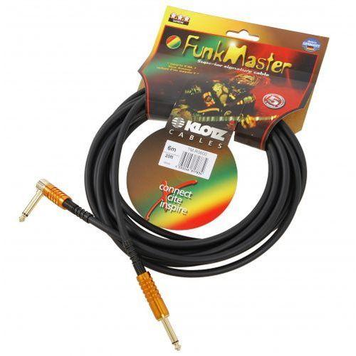 Klotz tm-r0600 funk master kabel gitarowy 6m, jack-jack kątowy, pozłacane wtyki