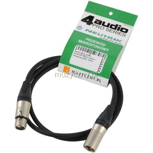 mic pro 1m przewód mikrofonowy xlr-f - xlr-m neutrik marki 4audio