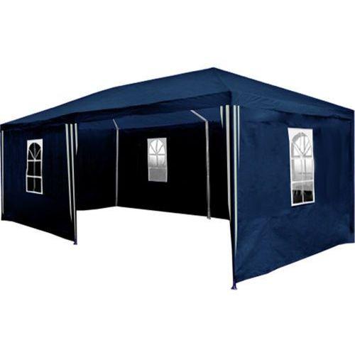 Pawilon ogrodowy 3x6 + 6 ścian namiot handlowy - niebieski marki Mks