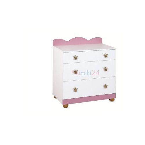 Klupś komoda księżniczka różowo-biała