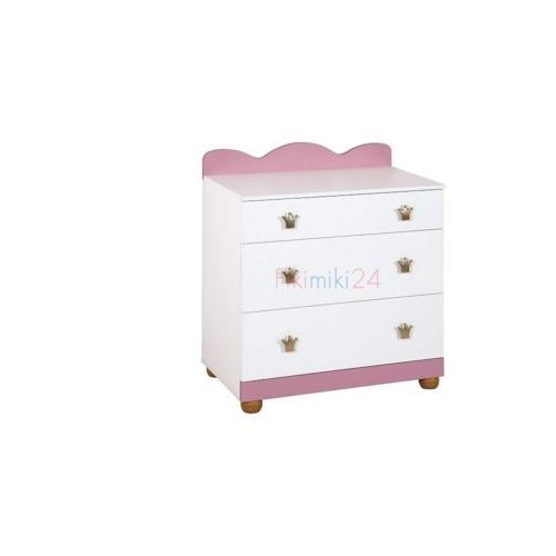 komoda księżniczka różowo-biała marki Klupś