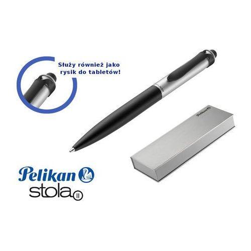 Pelikan Długopis stola ii czarno-srebrny