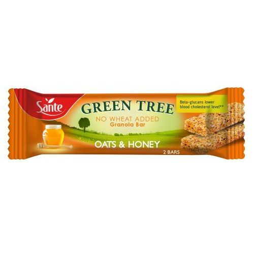 Sante Baton granola green tree z miodem 40g