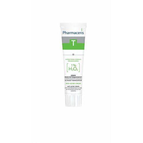 Pharmaceris T Medi Acne-Cream o kompleksowym działaniu na zmiany zapalne 1% H₂O₂ 30ml