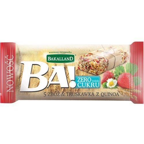 BAKALLAND 30g Ba! Baton zbożowy 5 zbóż truskawka i quinoa
