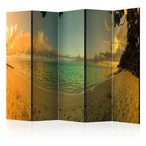 Parawan 5-częściowy - Zachód słońca na Tahiti II [Room Dividers]