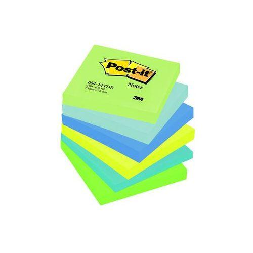 b4968512e77289 Bloczek samop. post-it® (654-mtdr), 76x76mm, 6x100 kart., paleta  marzycielska marki 3m 60,21 zł kolorowe karteczki, wykorzystaj gdy żółte  Cię znudząliczba ...