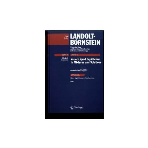 Landolt-Börnstein: Numerical Data and Functional Relationships in Science and Technology - New Series (9783540707448)