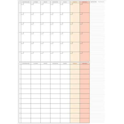 Planer- terminarz miesięczny+tygodniowy 59x84 cm (a1) marki Planowaki.pl