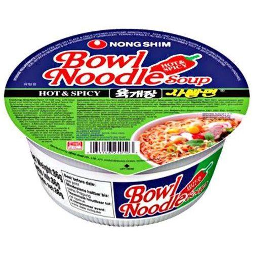 Zupa instant Bowl Noodle Hot & Spicy o smaku rosołu wołowego 86g - Nongshim (8801043263092)