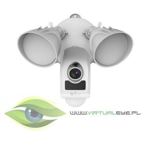 Ezviz zewnętrzna kamera lc1, full hd z czujką pir 270°/9m, promiennik podczerwieni do 18m, dwukierunkowe audio, syrena 100db, oświetlacz 2500lm