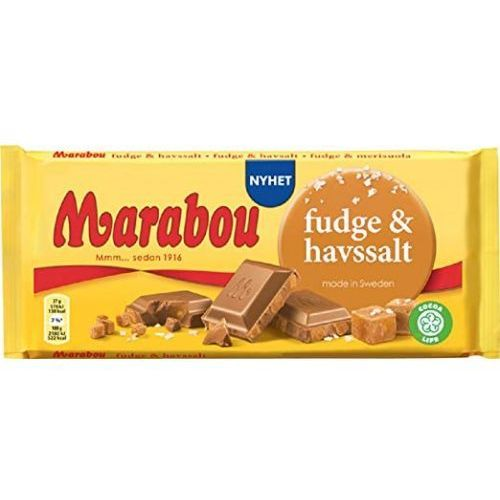 Marabou Fudge & Havssalt czekolada mleczna z kawałkami toffi i soli morskiej 185g