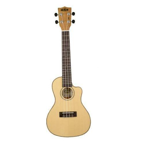 Kala KA SSTU SMC C EQ Spruce Top,Spalted Map.Trav.Concert, ukulele koncertowe z pokrowcem