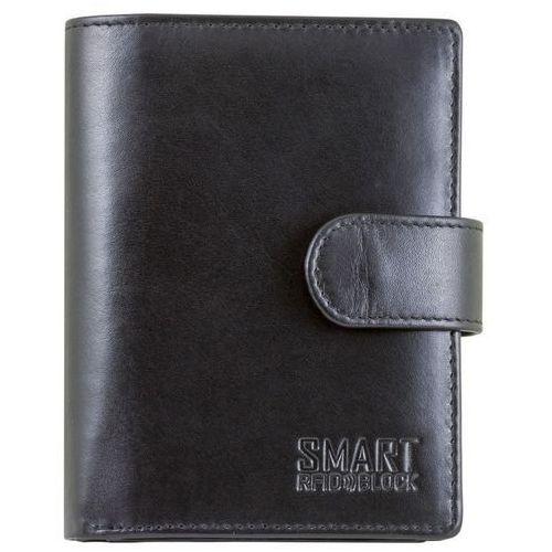 26ae6f003130c Koruma® Pojemny skórzany męski zapinany portfel ochrona rfid - czarny skóra  - czarny (5903111394141) 119