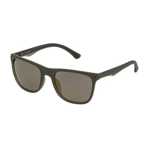 Okulary Słoneczne Police SPL357 BLACKBIRD LIGHT 2 Polarized GFLG, kolor żółty