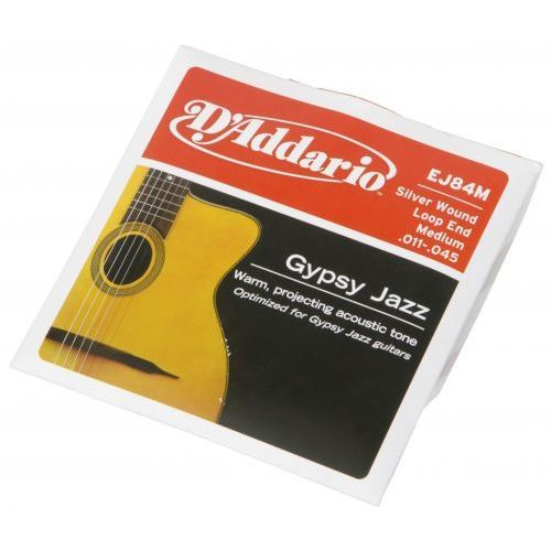 ej-84m struny do gitary akustycznej gypsy jazz 11-45 loop end marki D′addario