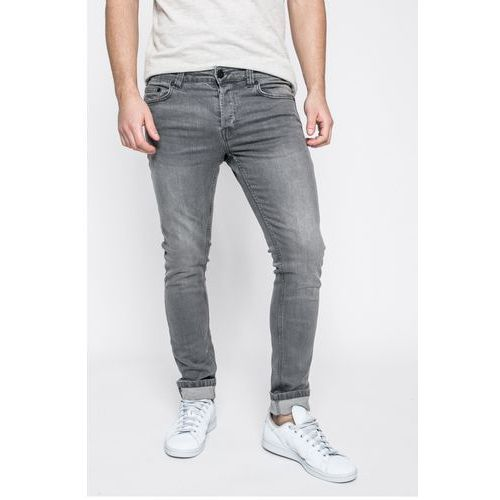 Only & Sons - Jeansy Loom med grey, kolor szary