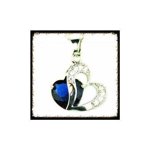 Durango Dwa serca, kryształek, ciemny granat. kolekcja dalia