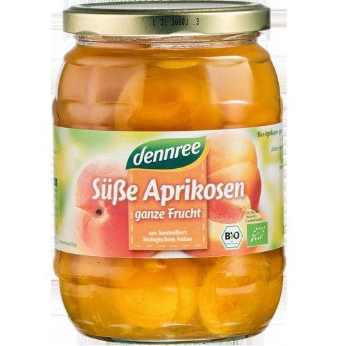 Morele połówki bez pestek w koncentracie soku jabłkowego bio 680 g dennree marki Dennree (dżemy, miody, herbaty)