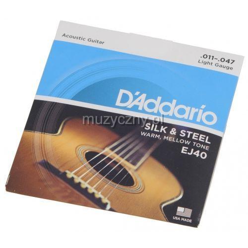 ej40 struny do gitary akustycznej silk & steel 11-47 marki D′addario