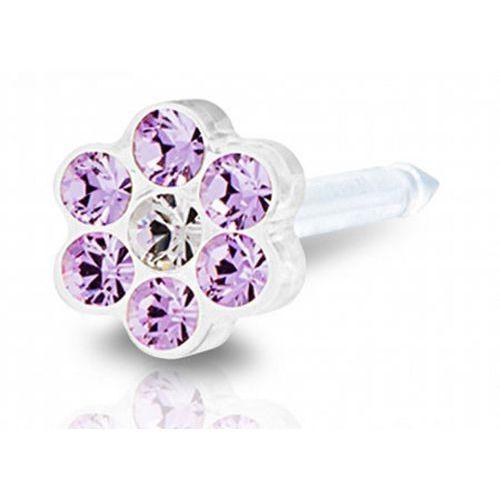 daisy violet / crystal 5 mm marki Blomdahl