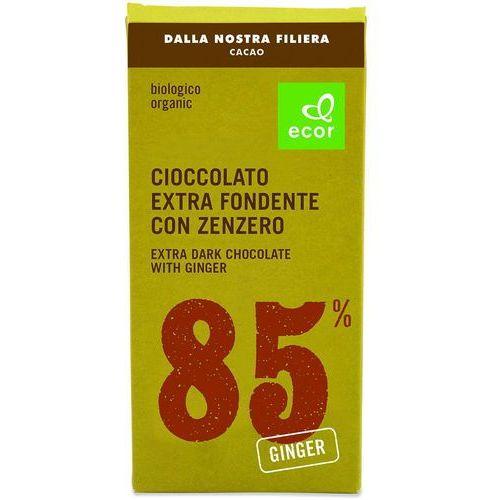 Czekolada gorzka min. 85% kakao z imbirem bio 80 g marki Ecor