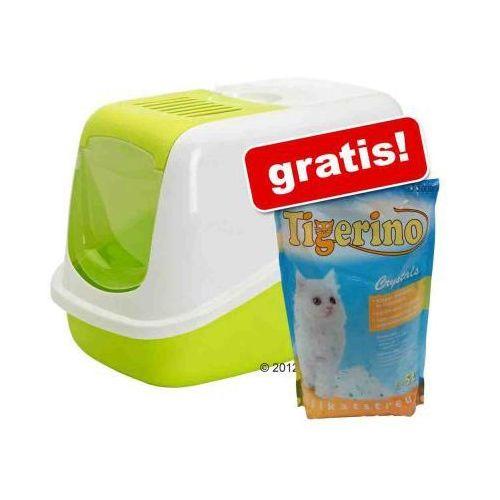 Savic Nestor kuweta + 5l Tigerino Crystals żwirek gratis! - Jasnozielona / biała - oferta [15eae9066152a4fd]