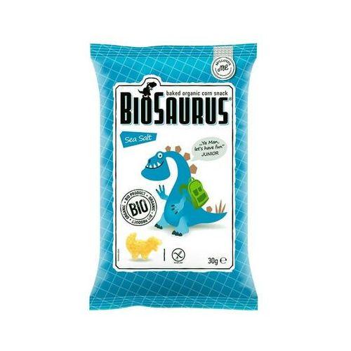 Chrupki kukurydziane Dinozaury z solą morską bezglutenowe BIO 30 g Cibi