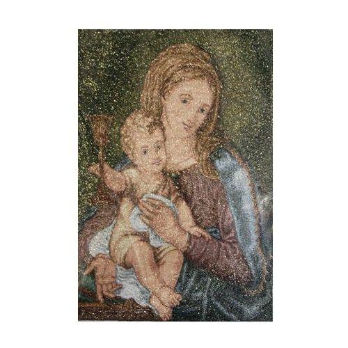 Matka i Królowa Przenajdroższej Krwi - ze złotą nitką