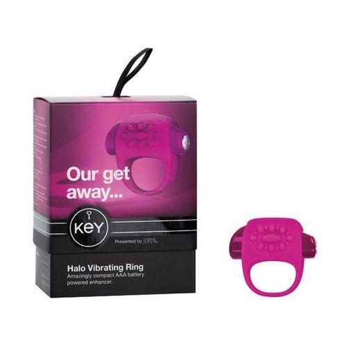 Wibrujący pierścień na penisa - Key by Jopen Halo Cock Ring różowy - produkt z kategorii- sztuczne członki i pochwy