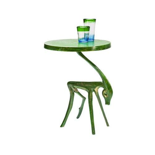 Deer Green Stolik Kawowy Zielony Aluminium - 78772, Kare Design z sfmeble.pl