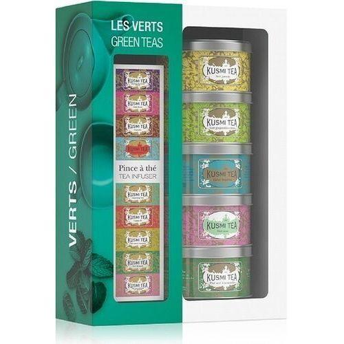 Herbaty kusmi green w zestawie z zaparzaczką 5 x 25g