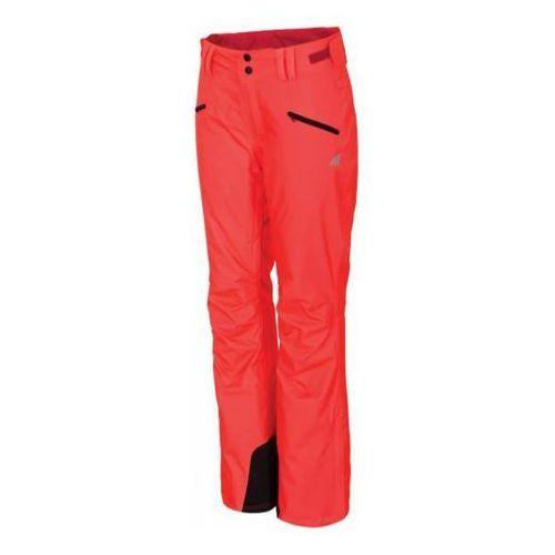 4f Spodnie narciarskie damskie spdn002 - czerwony